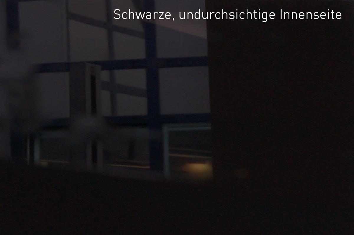 Sichtschutz&Deko OPALFILM silber schwarz undurchsichtig Primus außen